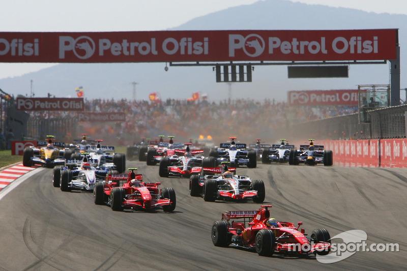 Start, 3.Felipe Massa, Scuderia Ferrari, F2007, 2. Kimi Raikkonen, Scuderia Ferrari, F2007, 3. Lewis