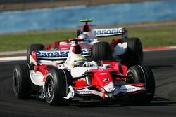 Ralf Schumacher, Toyota Racing, TF107 and Jarno Trulli, Toyota Racing, TF107