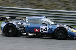 Descente vers Pouhon: # 94 Speedy Racing Team Spyker C8 Spyder GT2R: Andrea Belicchi, Andrea Chiesa, Jonny Kane