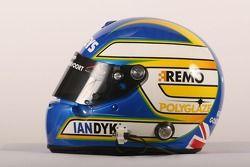 Casque de Ian Dyk, pilote de A1 Equipe d'Australie