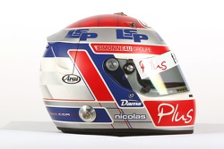 Nicolas Lapierre, driver of A1 Team France, helmet