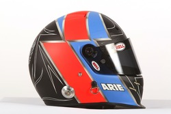 De helm van Arie Luyendyk Jr., A1 Team Netherlands