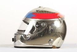 Adam Khan, driver of A1 Team Pakistan, helmet