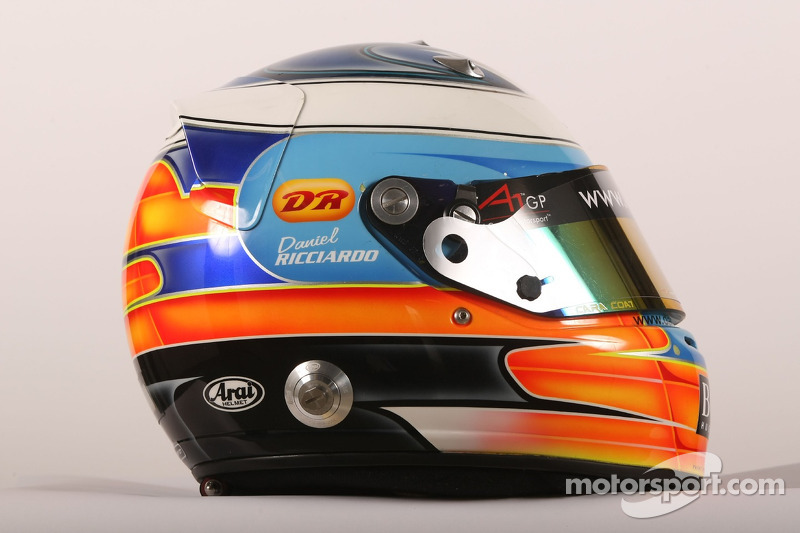 De helm van Daniel Ricciardo