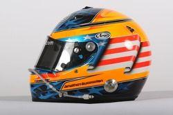 Jonathan Summerton, driver of A1 Team USA, helmet