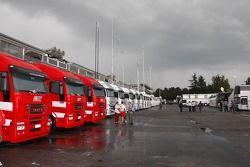 Wet padok area, Monza