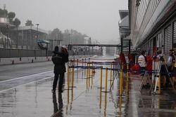 Wet pitlane, Monza
