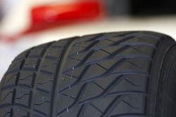 détail des pneus pluie
