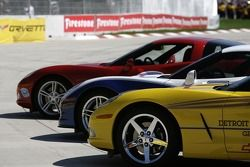 Corvette pace cars for the Grand Prix of Detroit
