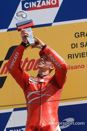 Podium: race winner Casey Stoner