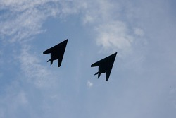 Stealth fighter fly-over