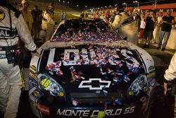 Victory lane: Jimmie Johnson's winning car