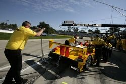 Penske Racing team members at work