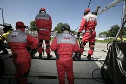 Audi Sport North America prêt pour un arrêt au stand