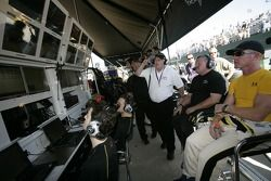 Johnny O'Connell and Corvette Racing watch the qualifying session