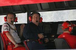 Stefano Domenicali, Scuderia Ferrari, Direktör, Jean Todt, Scuderia Ferrari, Ferrari CEO ve Kimi Rai