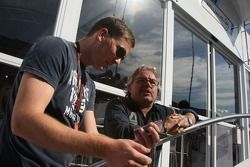 Georg Nolte talks with Keke Rosberg