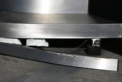 Broken step on the McLaren Mercedes motorhome
