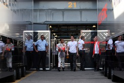 Lewis Hamilton, McLaren Mercedes walks out of the garage