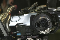 McLaren Mercedes, MP-22, Rear-end, Engine and Gearbox