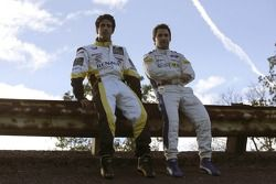 2007 Championship rivals Timo Glock and Lucas di Grassi on the Monza banking