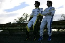 2007 Championship rivals Timo Glock and Lucas di Grassi Monza banking