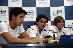 Giorgio Pantano, Lucas di Grassi and Vitaly Petrov