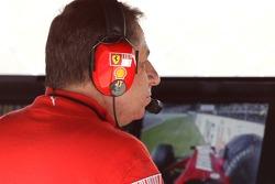 Jean Todt, Scuderia Ferrari, Ferrari CEO watches at Kimi Raikkonen, Scuderia Ferrari crashes heavily