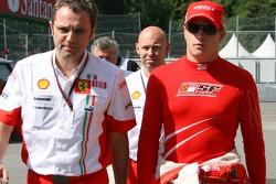Stefano Domenicali, Scuderia Ferrari, Sporting Director and Kimi Raikkonen, Scuderia Ferrari