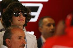 Son of Piero Lardi Ferrari, 10% owner of the Ferrari automotive company