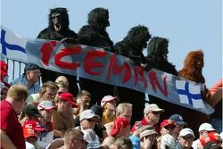 Kimi Raikkonen, Scuderia Ferrari fans dressed up as gorillas