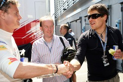 Jan Ullrich, Professional Road Bicycle rider and David Coulthard, Red Bull Racing