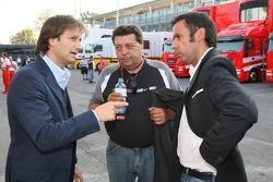 Danny Bahar, Scuderia Ferrari, Head of Marketing and Tony Teixeira, A1GP