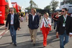 Piero Lardi Ferrari Son of Enzo Ferrari and 10% owner of the Ferrari automotive company and Luca di