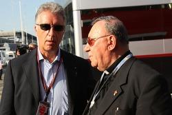 Don Sergio Mantovani, a Parish priest of Modena and Piero Lardi Ferrari Son of Enzo Ferrari and 10% owner of the Ferrari automotive company