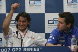 Giorgio Pantano and Timo Glock