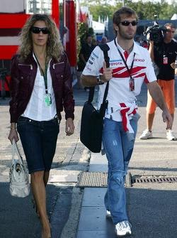 Jarno Trulli, Toyota Racing with his wife Barbera Trulli
