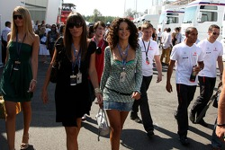 Formula Una's and Lewis Hamilton, McLaren Mercedes in the paddock