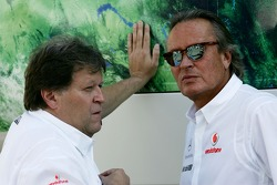 Norbert Haug, Mercedes, Motorsport chief and Mansour Ojeh, Commercial Director of the TAG McLaren