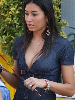 Elisabetta Gregoraci, Fiancee of Flavio Briatore, Renault F1 Team, Team Chief, Managing Director