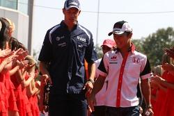 Alexander Wurz, Williams F1 Team, Takuma Sato, Super Aguri F1 Team