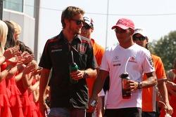 Lewis Hamilton, McLaren Mercedes, Jenson Button, Honda Racing F1 Team