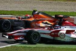 Takuma Sato, Super Aguri F1 Team, Adrian Sutil, Spyker F1 Team