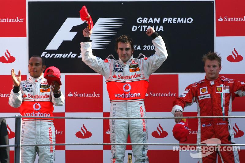 48- Fernando Alonso, 1º en el GP de Italia 2007 con McLaren