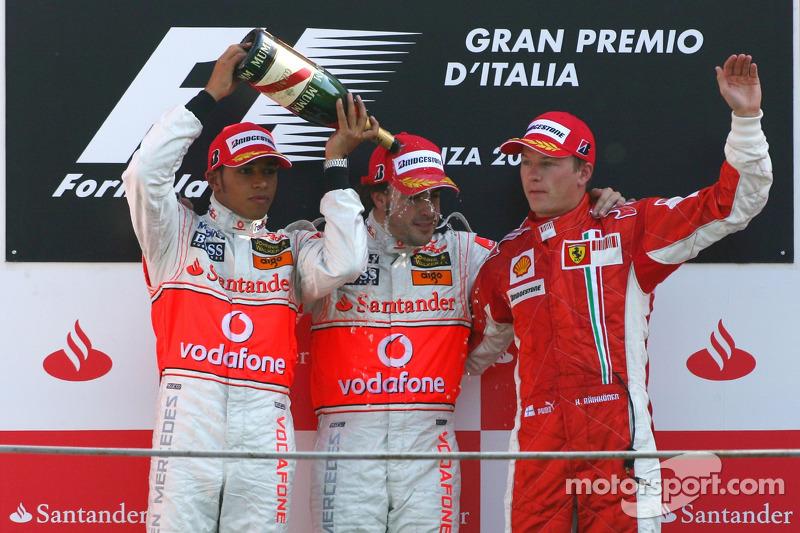 24. Fernando Alonso-Lewis Hamilton-Kimi Raikkonen: 5