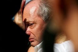 Ron Dennis emotional after the race