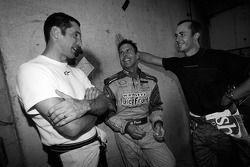Max Papis, Scott Pruett and Michel Jourdain share a laugh