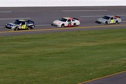 Jimmie Johnson leads a pack of cars
