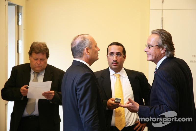 Norbert Haug, Mercedes, Motorsport chief, Ron Dennis, McLaren, Team Principal, Chairman and Mansour