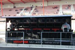 McLaren pit wall gantry